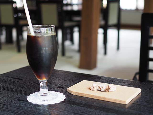 カフェ小教院のアイスコーヒー