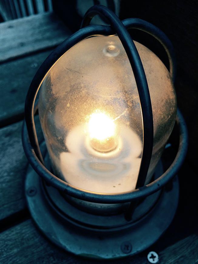 ランプがいい雰囲気を演出してくれます。