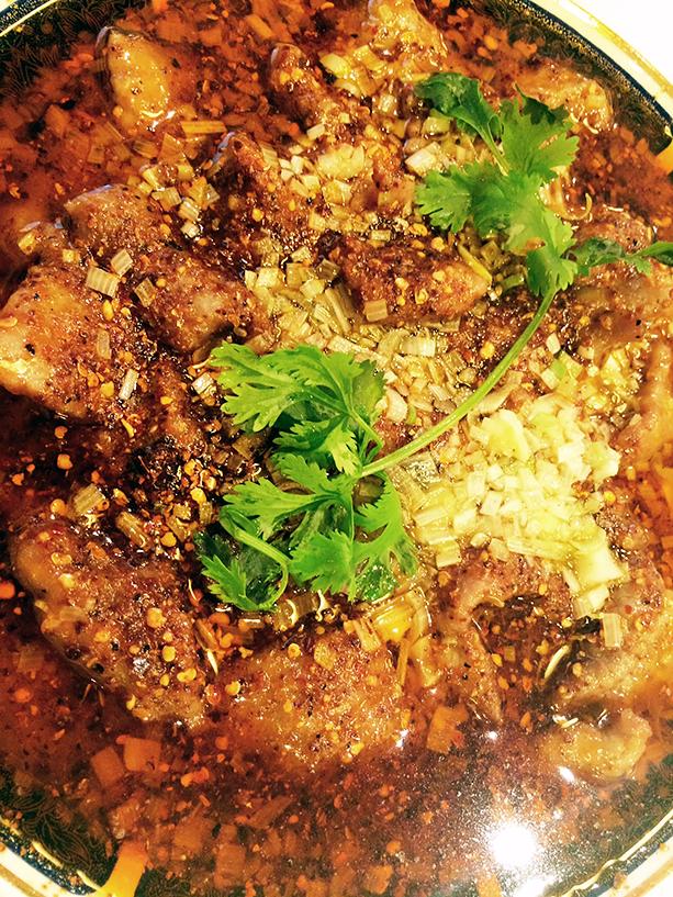 牛肉の薄切り山椒辛子煮